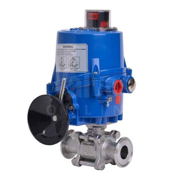 Hygienic 2 Way Electric Actuated Ball Valve