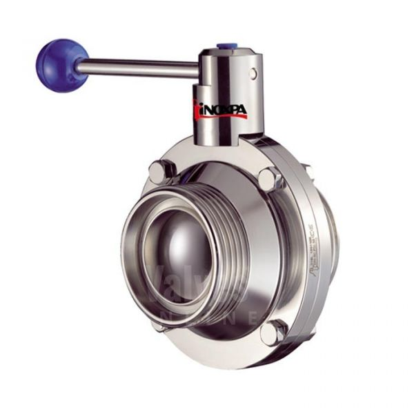 Inoxpa 6400 Hygienic CIP Ball Valve with Pneumatic Actuator and C Top