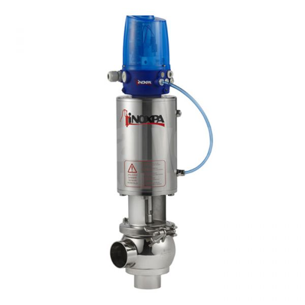 Inoxpa 'NL' Type Single Seat Valve with Single Acting Pneumatic Actuator and C-TOP+