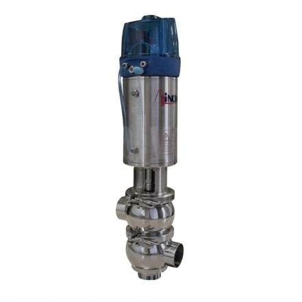 Inoxpa 'KH' Type Divert Valve with Single Acting Pneumatic Actuator and C-Top+