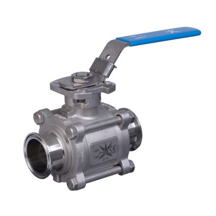 Mars Ball Valve Series 77SN 3 Piece Hygienic Tri-Clamp