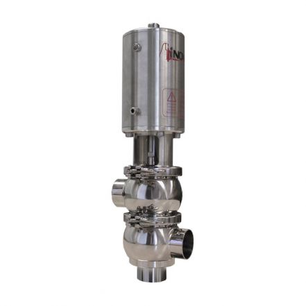 Inoxpa 'KH' Type Divert Valve with Single Acting Pneumatic Actuator